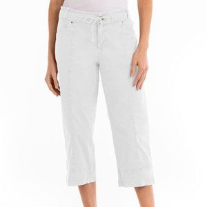 Columbia Cotton Capris White Cinched wast & hem M